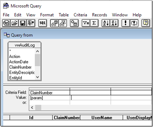 Using Excel Query for end user reporting against an Azure database